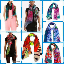 New 2014 Hot Desigual Large Scarf / Sarong / Pasmina Wrap Bright Holiday Scarf