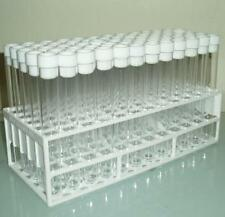 Plastic test tubes with tops and tray Ideal for wedding favours, 20ml volume