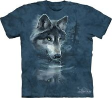 Wolf Reflection Kids T-Shirt from The Mountain. Wolves Boy Girl Child Sizes NEW
