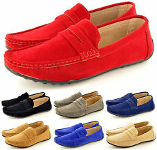 New Mens Faux Suede Casual Loafers Moccasins Slip on Shoes Avail. UK Sizes 5-11