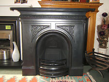 GALLERY PEMBROKE ARCHED, CAST IRON, COMBINATION FIREPLACE.. BLACK or POLISHED