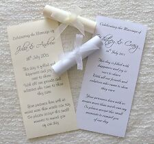 Wedding Favour or Invitation Scrolls - Personalised - Favor