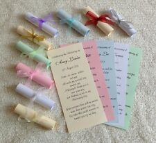 Christening Baptism Communion Naming Thank You Favour Favor Invitation scrolls