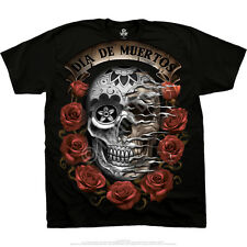 DIA DEL MUERTOS T-Shirt, Liquid Blue, sizes L - 2XL fantasy, goth, rock, metal
