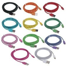 Braided 8pin USB Charger Data Sync Cable Cord for iPhone 5/5C/5S ISO7 Tested 6FT