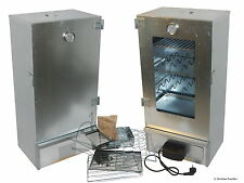 Professional fish, food and meat smoker with glass door + electric heating