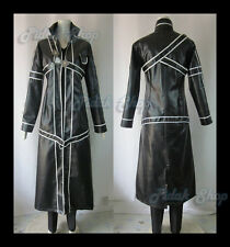sword art online KIRITO costume cosplay western size  cloak pu leather ecopelle