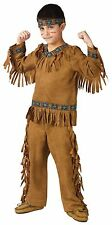 Native American Costume Wild West Child Boys Indian Cowboy Halloween Tan Fringe