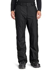 New $100 Mens COLUMBIA Waterproof Snow Shell Pants Black Ski Snowboard