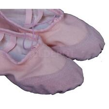 Pink Children Girls Boys Canvas Ballet Dance Fitness Shoes Slippers Gym Favors