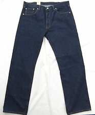 NEW LEVIS 501 STRAIGHT LEG BUTTON FLY RINSE WASH JEANS W 38 L 34 BNWT
