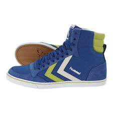 HUMMEL TRAINERS SLIMMER STADIL HIGH CANVAS HI TOPS UK 10 LIMOGES BLUE