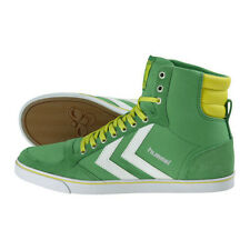 HUMMEL TRAINERS SLIMMER STADIL HIGH MENS CANVAS HI TOPS UK 9 FERN GREEN