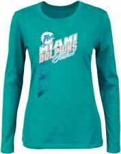 Miami Dolphins NFL Women's Her Jazz Long Sleeve Shirt Aqua Plus Sizes
