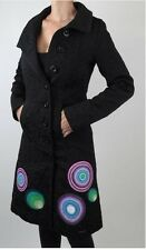 NEW Desigual Black Coat Dress robe Manteau Trench Geometric jacket EUR 36 to 46