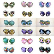 20g 0.8mm Hot 18 Items Adventure Time Cartoon TV Ear Plugs Fake Earrings Stud