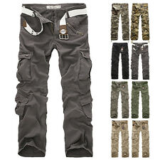 Military Men's Casual Trousers New Pants Army Camo Cotton Cargo