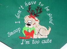 I Don't Have to be Good I'm Too Cute Christmas Personalized Dog Bandana