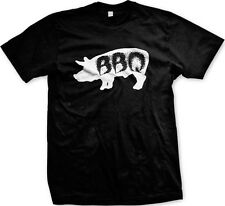 Pig BBQ Bar-B-Que Grilling Cookout Grill Master Chef Pork Tasty Mens T-shirt
