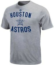 Houston Astros MLB Majestic Authentic Edge Gray Tee Shirt Big And Tall Sizes