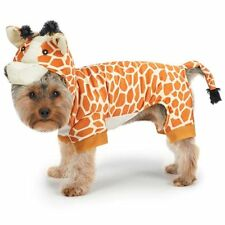 GIRAFFE Dog Costume Ultra-Soft Plush Adjustable Hook/Loop Closure Full-Body