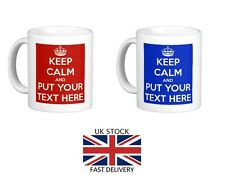 Keep Calm Personalised Mug Cup Gift Your Text Design