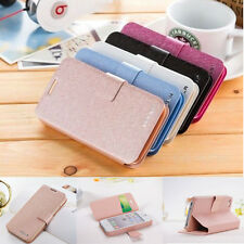 Luxury Wallet Silk Leather Stand Flip case cover for iPhone 4S 5 5S 5C 6/ 6 Plus