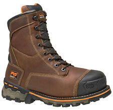 "Mens Timberland PRO Boondock 8"" Work Boot Safety Toe WP Leather (E,W) 89628"