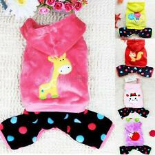 Small Dogs Hoodie Winter Fleece Sweater Coat Dots Pant Jumpsuit Pet Apparel DAL