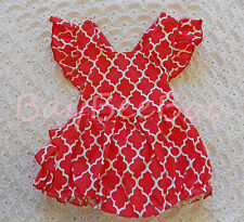 New Baby Girls Toddlers Clothes Cute Frilled Romper Sizes 00, 0 10% Off RRP