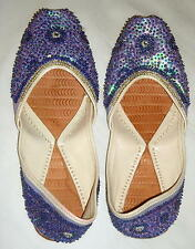 Pretty Purple Beaded Slippers Size 6 Free Shipping in the USA