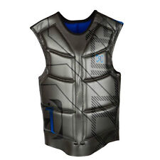 New Ronix Parks Wakeboard Vest Impact Jacket Grey Hadron Blue Medium