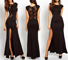 Prom Sexy Womens Slim Long Maxi Lace Ball Gown Evening Cocktail Party Dress
