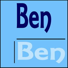 Ben Wall Sticker! Boys Home Art - 24x55cm Bedroom Door Name Room Decal