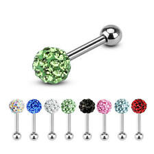 Ferido Crystal Multi Gem Cartilage Upper Ear Stud Earring / Tragus / Helix Bar