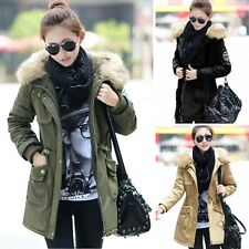 Fashion Womens Slim Fit Warm Winter Coat Hood Parka Overcoat Long Jacket Outwear
