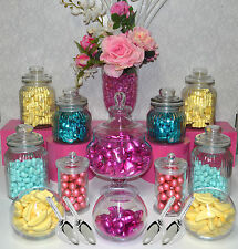 "Lolly Jars Candy Buffet .. 12 x Jars ""CLASSIC"" 4 x SCOOPS Apothecary Jar Wedding"