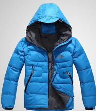 New 90% DUCK DOWN Men Blue jacket coat Ski Outdoor winter clothing HOODIE