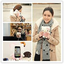 Cute 3D Funny Hello Kitty Plush Toy Doll Cover Case For Apple Iphone 6 4.7''
