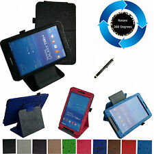 """For 8"""" Samsung Galaxy Tab 4 8.0 T330 Tablet PC 360° Rotating Stand Cute Case/Pen"""