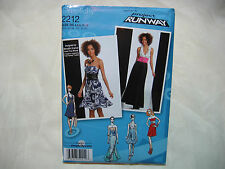 Simplicity Project Runway 2212 Sewing Pattern - Dress in Two Lengths w/ Bodice
