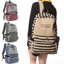 2013 Popular Fashion Unisex Backpack Canvas Stripe Leisure Bags BookBags US