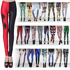 Sexy Fashion Lady Pattern Printed Hot Womens Stretch Tight Leggings Skinny Pants