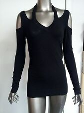 New Frederick's Of Hollywood Sexy Peek A Boo Cut Out Knit Top Blouse