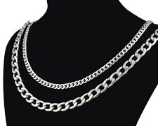 """2014 Cool 316L Men's Stainless Steel Necklace Chain Links 4.5-7.5mm 20"""" to 24"""""""