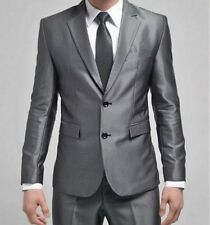 Stylish Mens Slim Fit Formal Suit/Suits Two-Button Suit Set Jacket Casual Pants