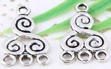 Wholesale 32/70Pcs Tibetan Silver(Lead-Free) Connectors Findings  21x13mm