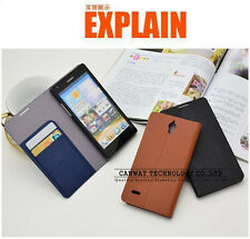 Stand Flip Leather  Cover Case for Huawei Ascend G700