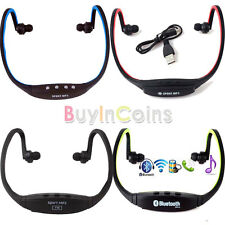 Wireless Stereo Sport Earphone Headset Bluetooth MP3 Player FM Support TF Card