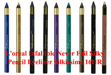 L'Oreal Infallible Silkissime 16HR Never Fail Silky Pencil Eyeliner Choose Color